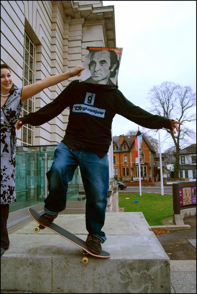 charles aznavour sleeveface skateboard