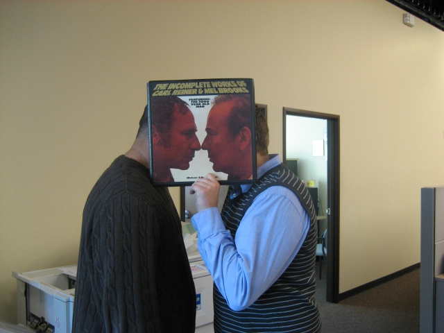 carl reiner and mel brooks michael opitz sleeveface