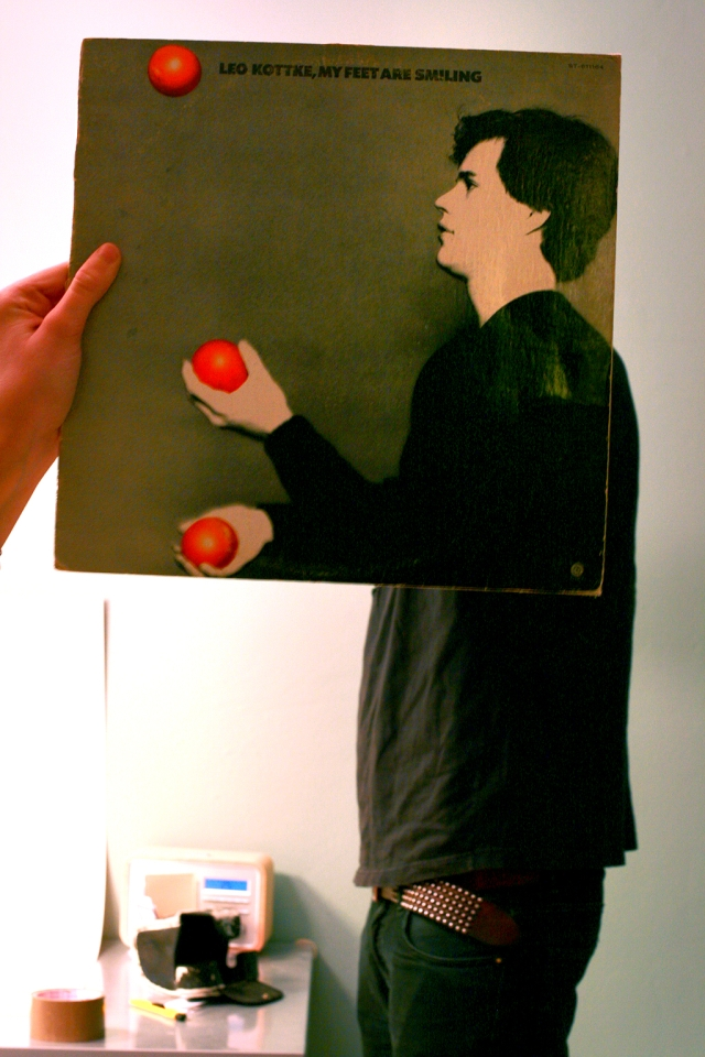 leo kottke my feet are smiling sleeveface