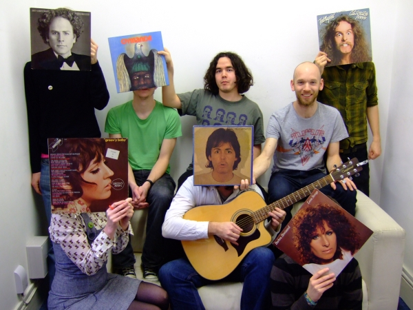 carl morris, john rostron and sleeveface friends