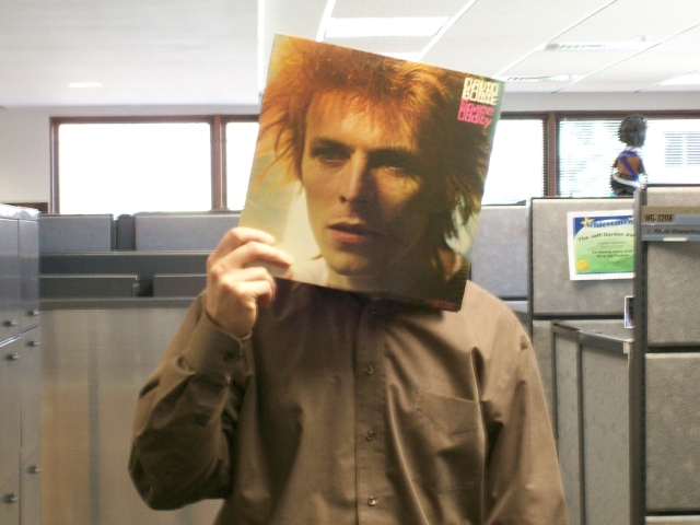 David Bowie Sleeveface
